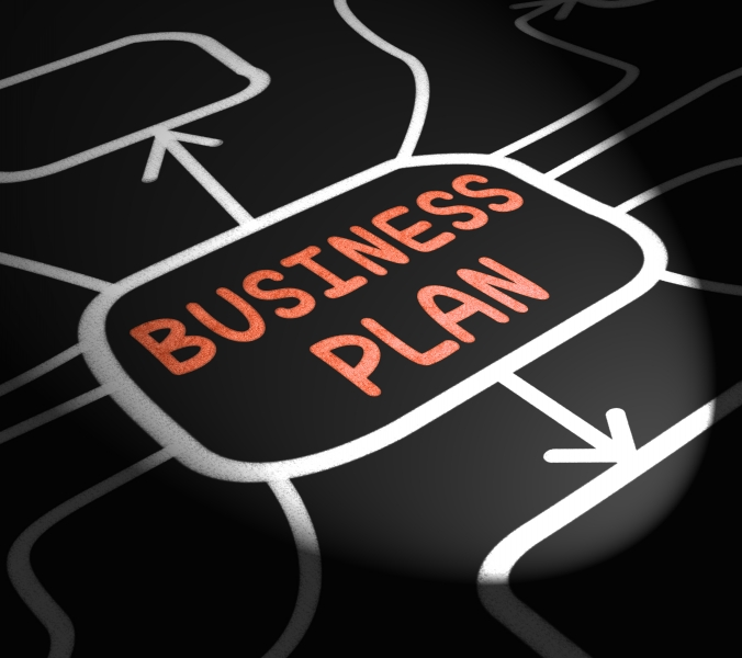 8881020-business-plan-arrows-means-goals-and-strategies-for-company